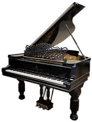 STEINWAY MODEL A CARVED VICTORIAN ART CASE - EBONY