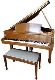 "STEINWAY MODEL L 5' 10.5"" ARTIST GRAND WALNUT FRENCH POLISH"