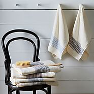 Flax Line Cotton Japanese Bath Towels