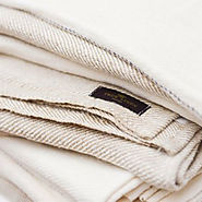 White Huckaback Bath Towel