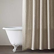 Pure Linen Natural Shower Curtain