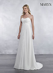 Bridal Wedding Dresses | Style - MB1027 in Ivory or White Color