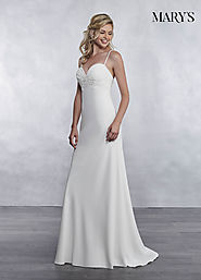 Bridal Wedding Dresses | Style - MB1033 in Ivory or White Color