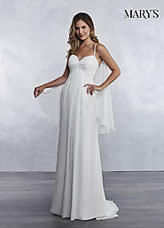 Bridal Wedding Dresses | Style - MB1032 in Ivory or White Color