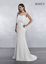 Bridal Wedding Dresses | Style - MB1036 in Ivory or White Color