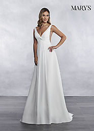 Bridal Wedding Dresses | Style - MB1028 in Ivory or White Color