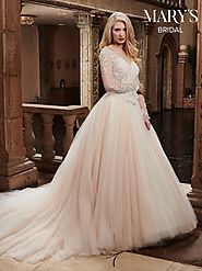 Bridal Wedding Dresses | Style - MB3027 in Ivory/Blush, Ivory, or White Color