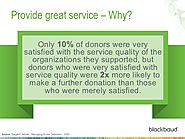 Service your donors to drive engagement