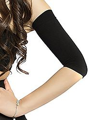 2Pairs(Black+Color) New Fashion Combo Slimming Compression Arm Shaper Short Sleeves for Women Girls