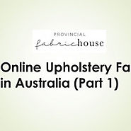 Online Upholstery Fabric in Australia (Part-1) | Visual.ly