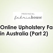 Online Upholstery Fabric in Australia (Part-2) | Visual.ly
