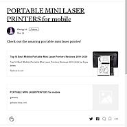 weblinks · Portable Mini Laser Printers for Mobile · Posts