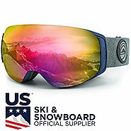 WildHorn Outfitters Roca Ski Goggles & Snowboard Goggles- Premium Snow Goggles for Men, Women and Kids. Features Quic...
