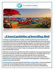 A travel guideline of travelling Bali