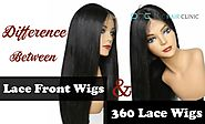 What is the difference between Lace Front Wigs and 360 Lace Wigs?