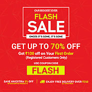Up to 70% Off | Online Shopping Flash Sale