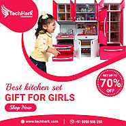 Techhark Master Chef Cooking Pink Barbie Light & Music Kitchen Set