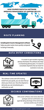 How Courier Dispatch Software improves management of shipping delays | Visual.ly