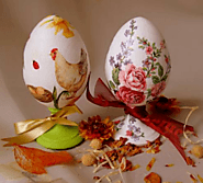 How to Paint Easter Eggs in Decoupage Style (With Photos)