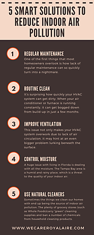 5 Smart Solutions To Reduce Indoor Air Pollution