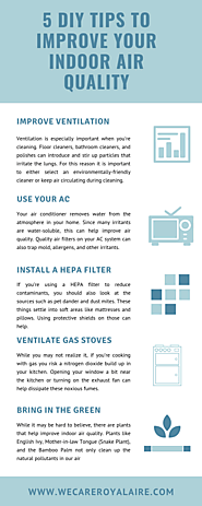 5 Diy Tips To Improve Your Indoor Air Quality