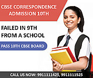 CBSE Correspondence Admission form Class 10th Date, Last Date Delhi.