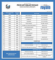 With Best Price List and Payment Plan - Galaxy Royale Gaur City 2