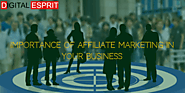 Affiliate marketing and it's importance in any business - Digital Esprit