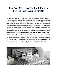 Buy Coir Mattress For Back Pain to Relieve Back Pain Naturally