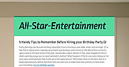5 Handy Tips to Remember Before Hiring your Birthday Party DJ