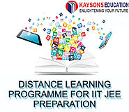Distance Learning Programme for IIT JEE Preparation