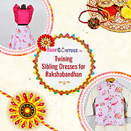 Cute Brother Sister Matching Traditional Dresses for Rakshabandhan
