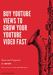 Buy YouTube Views To Grow Your YouTube Video Fast