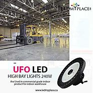Upgrade to cULus and DLC Certified 240w UFO LED High Bay Lights