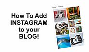 How to Add Instagram Follow Button in Blogger Blog - Instagram Follow Button