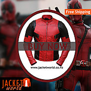 Reynolds superhero Deadpool leather Jacket