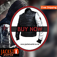 Bucky Silver Armor Leather Jacket