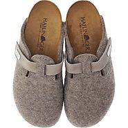 Buy Women's Haflinger Classic Grizzly Hard & Soft Sole Slippers
