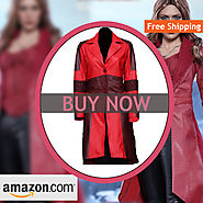 Civil War Scarlet Witch Leather Coat