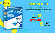Powerful & Secured HYIP Script - Buy Now at a 50% Discount