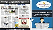 RELY ON THE HINDU TO SPREAD OBITUARY NOTICES - Obituarytoday