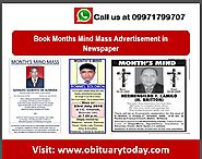INSTANTLY BOOK MONTH'S MIND MASS AD HERE