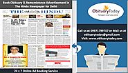 THE HINDU DELHI REMEMBRANCE ADS; THE BEST WAY TO PAY YOUR TRIBUTES TO THE DEPARTED SOUL