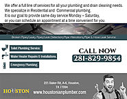 Houstonian Plumbing Offers Clogged Toilet Repair in Sugarland, Houston…