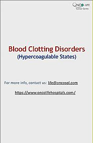 A Guide to Blood Clotting Disorders by hematologist in Pun… | Flickr