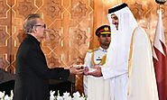 President Alvi confers Nishan-e-Pakistan on Emir of Qatar on his visit to Pakistan