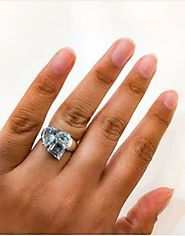 Embrace your style blue topaz engagement ring