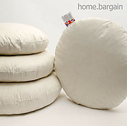"Details about  Duck Feather Cushion Pad Round Insert Filler Home Sofa Couch Pillow 16"" 18"" 20"""