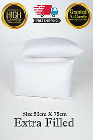 Details about  Pack of 2 Standard Pillows Luxury Hollowfibre Pillow Inner Filling 50x75cm New