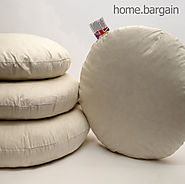 Details about  Pack of 2 Round Duck Feather Cushion Pad Insert Filler